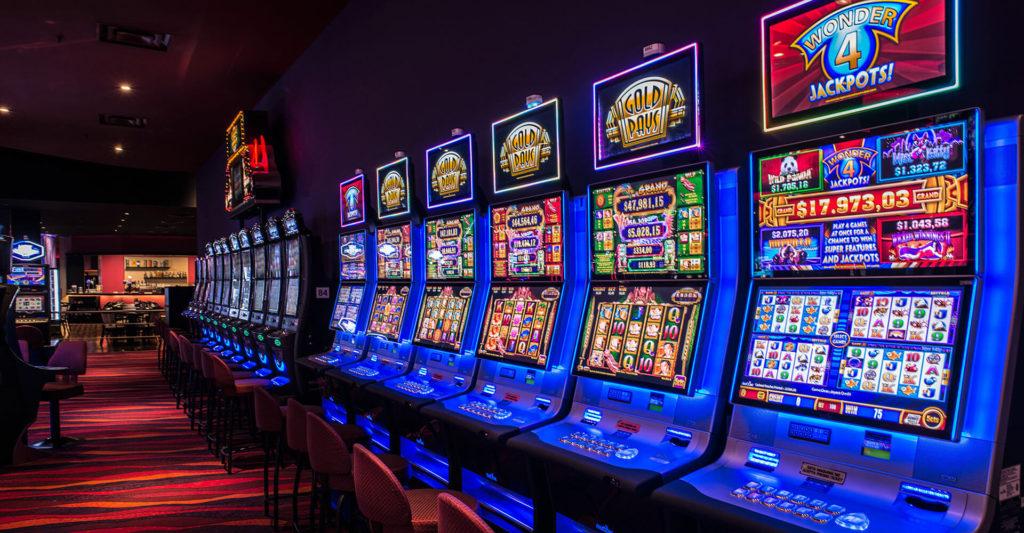 Sala de Slots en el Casino Trilenium, el casino más grande de Argentina